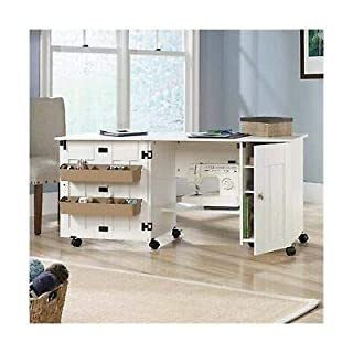 Sauder 414873 Sewing & Craft Cart, Soft White Finish