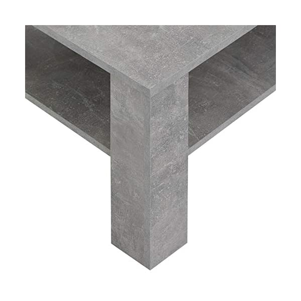 IDIMEX Table Basse Lorient, Table de Salon rectangulaire avec 1 étagère Espace de Rangement Ouvert, en mélaminé décor béton