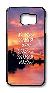 Brian114 Case, S6 Case, Samsung Galaxy S6 Case Cover, If You Never Try Retro Protective Hard PC Back Case for S6 ( Black )
