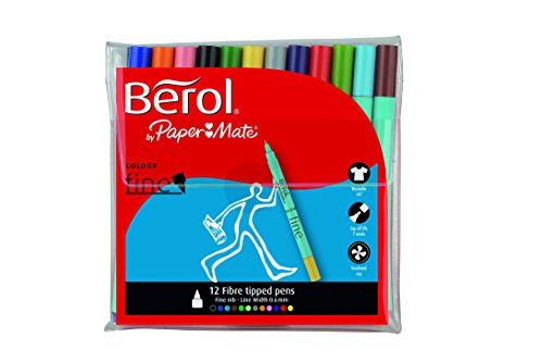 Berol Colour Fine Pen With 0.6mm Nib - Assorted Colours (pack Of 12)