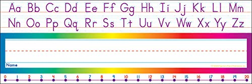 Scholastic Alphabet-Number Line (Standard) Name Plates (TF1528) by Scholastic