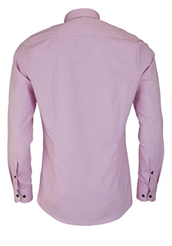 OLYMP Level Five Body Fit Hemd Extra Langer Arm Punkte Rosa AL 69