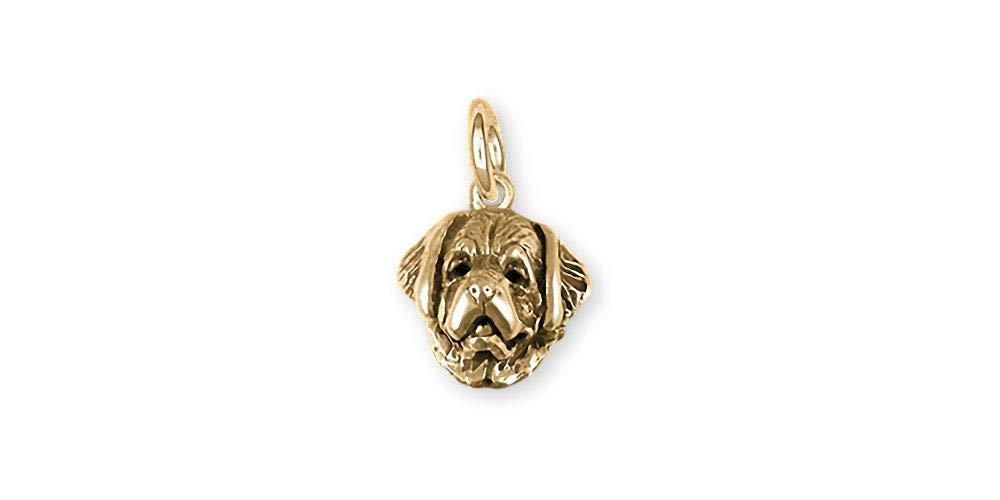Saint Bernard Jewelry 14k Gold Handmade Saint Bernard Charm STB1H-CG