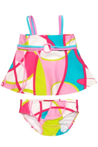 2 Piece Kate Mack Swimsuit - Kate Mack A La Mod Infant 2 Piece Swimsuit in Pink - 24 Months