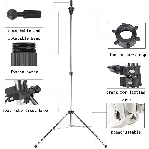 Lnasi Mannequin Head Holder Tripod Stand for Beauty Hair Salon With Carry Bag Suitable for Practicing Training Cosmetology