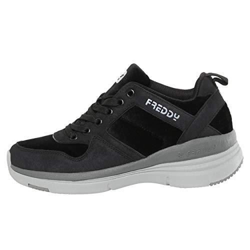 con 36 in tacco nero 6 interne nabuk Sneakers da cm 6q5pv1Wwx