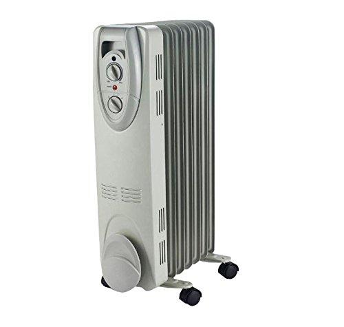 1500-Watt Electric Oil-Filled Radiant Portable Heater - Grey - | 1500-Watt amzn_product_post Electric Grey Heater Oil Filled Heaters Oil-Filled Portable Radiant