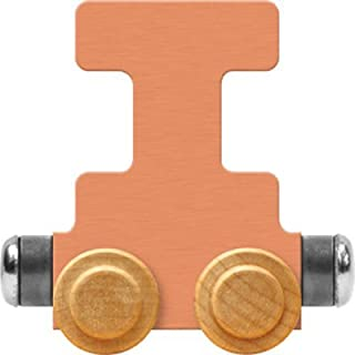product image for Maple Landmark NameTrain Pastel Letter Car I - Made in USA (Orange)