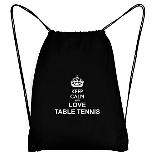 Teeburon Keep calm and love Table Tennis Sport Bag by Teeburon