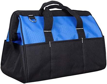 耐久性工具バッグ 商人ハードケースワークステーションジッパー修理キットオーガナイザーパワーツールバッグ電気技師主催防水 工具収納&仕分け管理&運搬用 (色 : Blue, Size : One size)