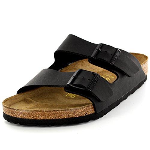 Womens Birkenstock Arizona Slip On Buckle Summer Vacation Beach Sandals Black AQcrL7