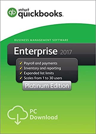 QuickBooks Desktop Enterprise 2017 Platinum Edition Business Accounting Software 5-User [PC Download]