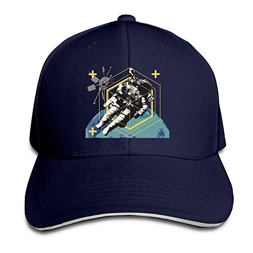 JHDHVRFRr Hat Astronaut Space Denim Skull Cap Cowboy Cowgirl Sport Hats Men Women