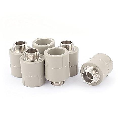 eDealMax 3 / 4BSP rosca macho PPR del tubo de agua de adaptador de montaje 6pcs conector - - Amazon.com