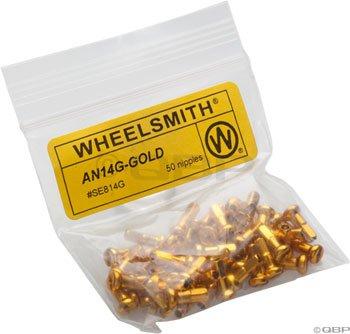 (Wheelsmith 2.0 x 12mm Gold Alloy Nipples, Bag of 50)