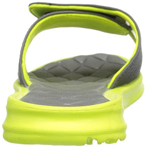 New Balance Rev II Slide Grey Yellow Womens Sandals Grey Yellow