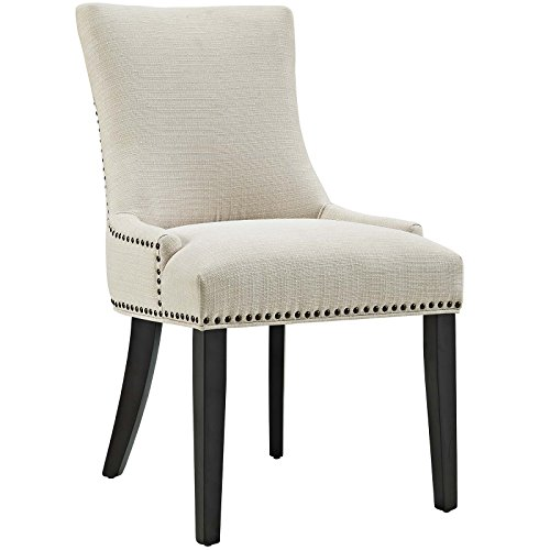 Modway Marquis Fabric Dining Chair in Beige