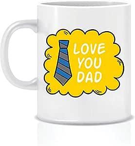 مج سيراميك أبيض مكتوب عليه Love you dad