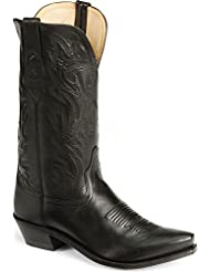 Old West Mens Leather Cowboy Boot Snip Toe - Mf1510