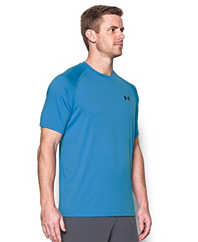 Under Armour Men's Tech Short Sleeve T-Shirt, Water /Black, Small by Under Armour (Image #2)