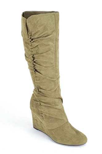 Mia Womens Renee Round Toe Synthetic Knee High Boot Taupe (6.5 M US)