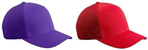 Flexfit 6533 Ultrafibre & Airmesh Fitted Cap, Set of Purple / Red Sets - - Melbourne Shops Crown