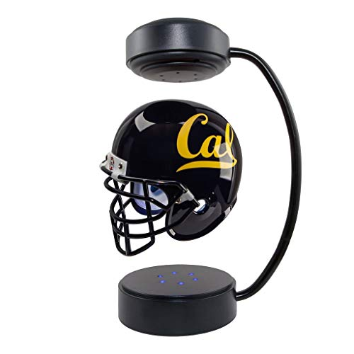 California Golden Bears NCAA Hover Helmet - Collectible Levitating Football Helmet with Electromagnetic Stand