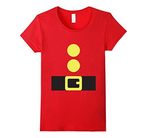 Cute Female Elf Costumes (Womens Christmas Elf Costume Cute Graphic T-Shirt XL Red)