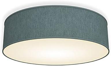 Lámpara de techo moderna con pantalla textil Ø 40cm, Lampara