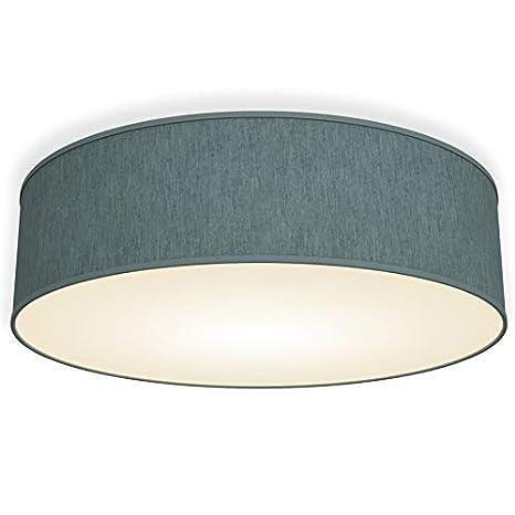 Lámpara de techo moderna con pantalla textil Ø 40cm, Lampara LED con ...