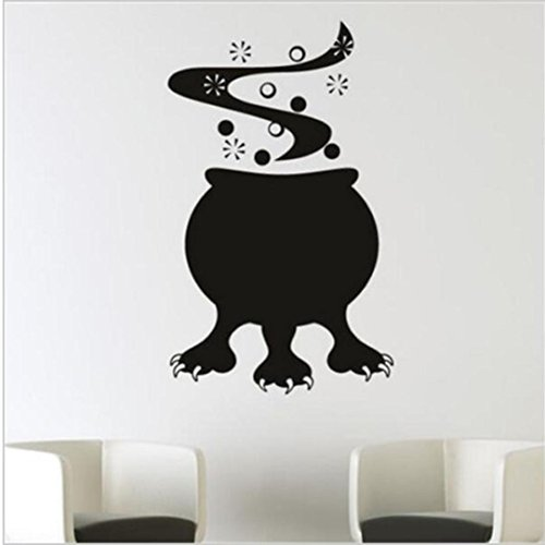 Wall Stickers,Han Shi Happy Halloween Modern Waterproof Funny Character DIY Mural Decor (M, (Modern Family Halloween Work)