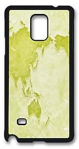 Custom Samsung Galaxy note 4 Case,Green earth plate diagram TPU Black Samsung Galaxy Note4 Cases