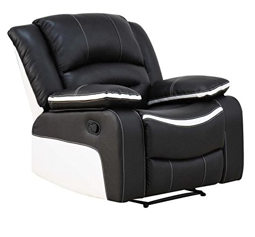 Major-Q Ebony and Cream Motion Reclining Chair (7052167) by Major-Q
