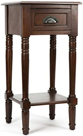 Espresso Composite Casual End Table