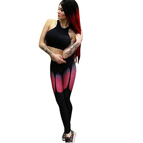 SSYUNO Women Grid Printted Sports Gym Skinny Fitness Stretchy Yoga Pants Leggings Tummy Control Yoga Shorts Capris