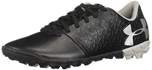 (Under Armour Magnetico Select JR Turf Soccer Shoe, Black (001)/Metallic Silver, 1)