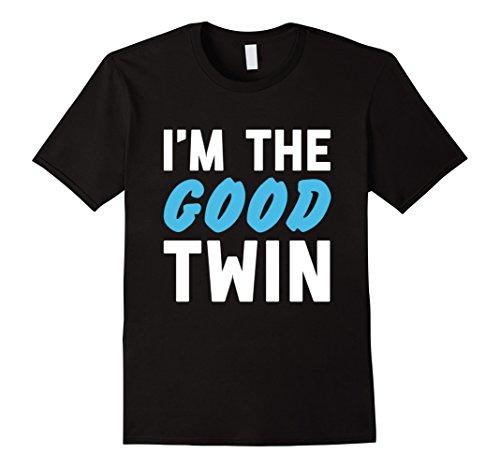 Good Couple Halloween Costumes (Mens Im The Good Twin | Funny Couples Halloween Costume XL Black)