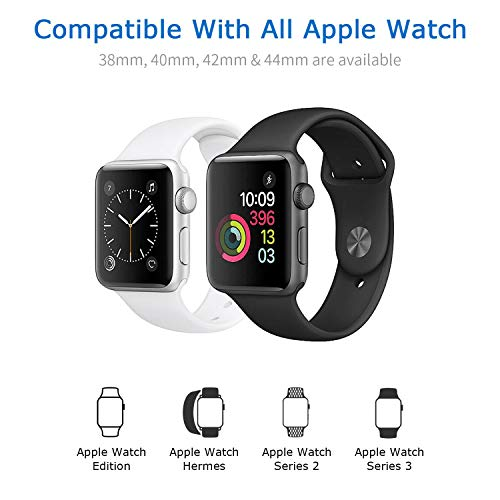 Compatible with Apple Watch Magnetic Wireless Charger Pad Charging Cable Cord Compatible with Apple Watch iwatch 38 mm/42 mm Series 1/2/3/4, 3.3Ft