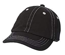 City Thread Unisex Baby Solid Baseball Hat - Black - S(0-6M)