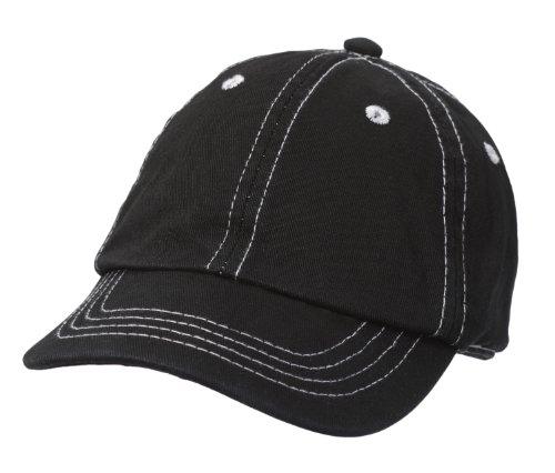 City Thread Little Boys' and Girls' Solid Baseball Hat Sun Protection SPF Beach Summer - Black - L