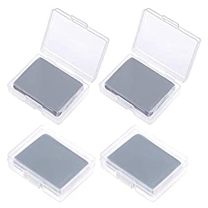 Sntieecr 4 Pack Kneaded Erasers – Drawing Art Kneaded Rubber Erasers, Large Size Grey