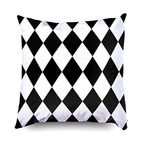 TOMWISH Hidden Zippered Pillowcase Christmas Black White Background Pattern 18X18Inch,Decorative Throw Custom Cotton Pillow Case Cushion Cover for Home Sofas,Bedrooms,Offices,and More]()