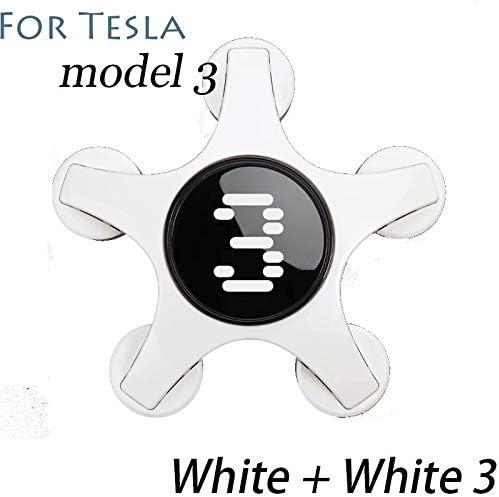 Teslaモデル3、白+白3の環境にやさしい非毒性の変更されたアクセサリーは、装飾的なホイールキャップをマーク