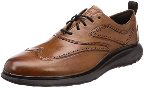 Cole Haan Men's 3.Zerogrand Wingtip Oxford British Tan Leather/Dark Roast/Black 9 D US D (M)