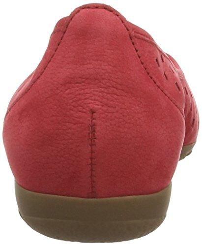 Gabor 24,169 Nubuck Damen Ballerinasreeks Rood (rood Nubuk)