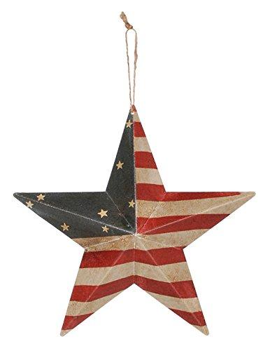 """DARICE Rustic Metal 3-D Star United States Flag, 12"""""""