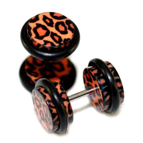leopard print fake plugs - 9