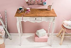 Mesa consola - Escritorio - Hemingway - Caoba blanco / natural ...