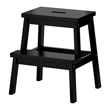 Amazing Ikea Bekvam Wooden Utility Step Stool In Black Unemploymentrelief Wooden Chair Designs For Living Room Unemploymentrelieforg