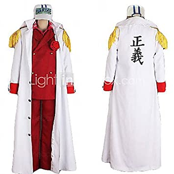 Subject One Piece Foxy ref Admiral Akainu Marine Uniform Cosplay Costume ,  Male , M